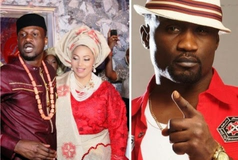 Peter-Okoye-and-his-baby-mama-Lola-Omotayo-wed-on-November-11-2013.-Elder-brother-Jude-Okoye-was-supiciously-missing-from-the-event