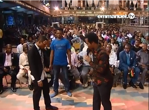 T B Joshua delivers Actress Camilla Mberekpe's son from