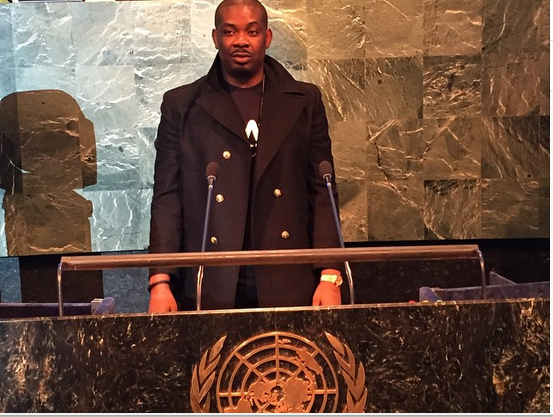 Don Jazzy pictured with Steve Harvey