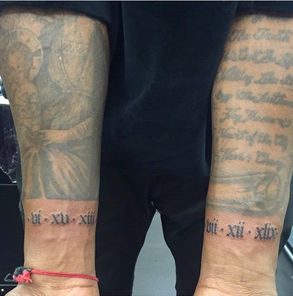 Kanye West Tattoos North