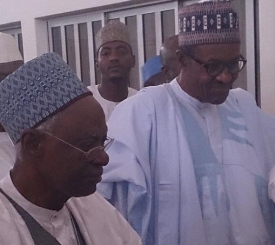Buhari Meets Shehu Shagari