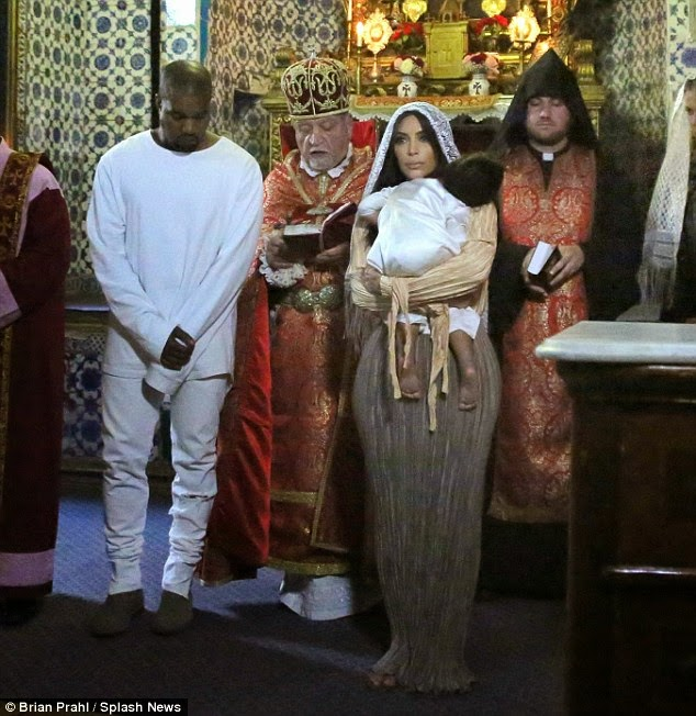 North West's Baptism Ceremony
