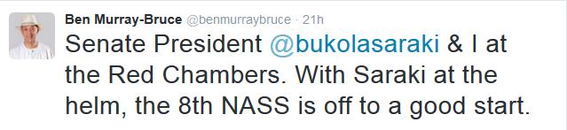 Ben Murray Bruce Supports Saraki