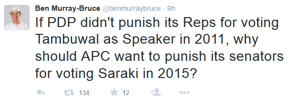 Ben Murray Bruce Supports Bukola Saraki