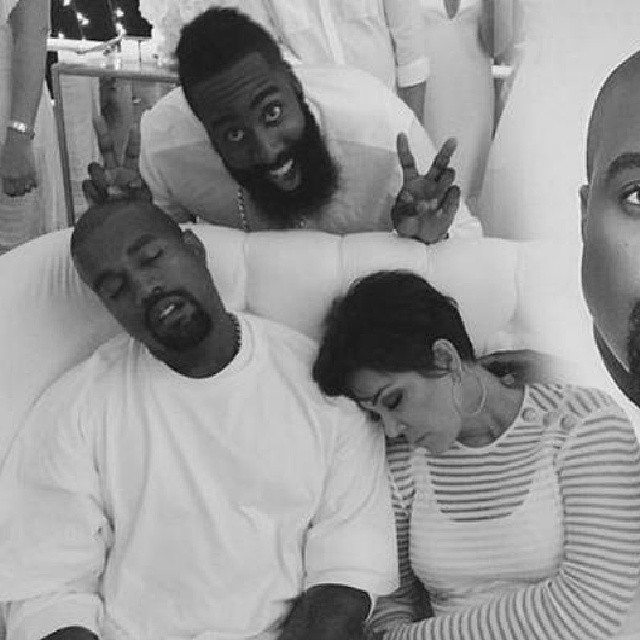 Kanye And Kris Sleep