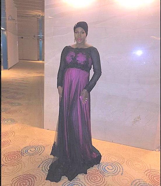 Heavily Pregnant Stephanie Okereke Stuns For Movie Premiere with Her Husband