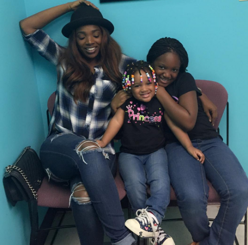 Annie Idibia Shares New Photos of Herself With Her Beautiful Daughters