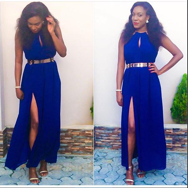 Chika Ike Blue Dress