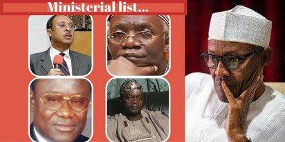 Ministerial list