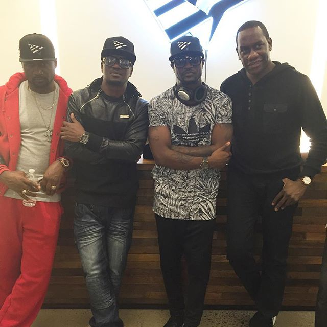 P-Square With Jay Z Brother