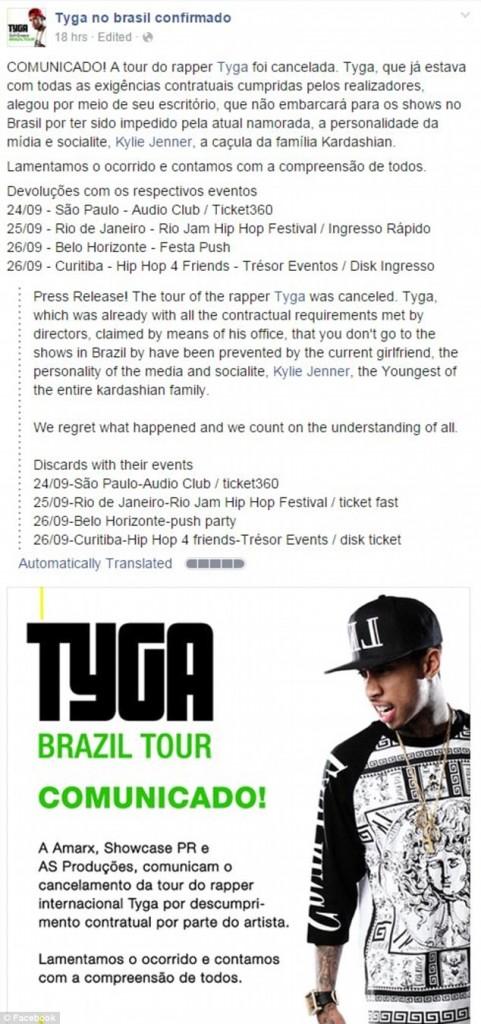 Tyga Brazil Tour