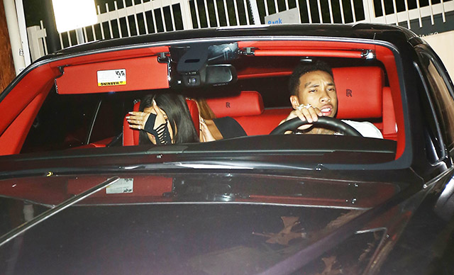 Kylie Jenner and Tyga crash while attending 1 Oak Performance in Los Angeles
