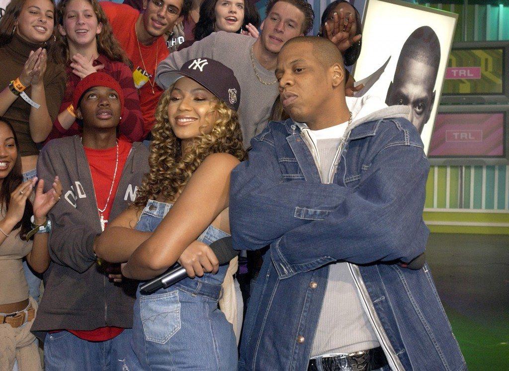 Beyonce with Jay Z in 2003