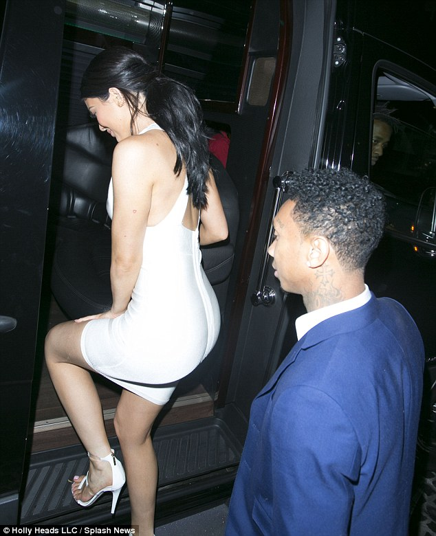 Kylie And Tyga Hold Hands1