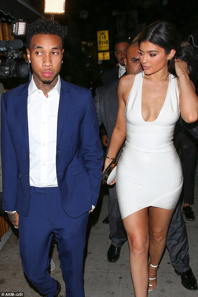 Kylie And Tyga Hold Hands2