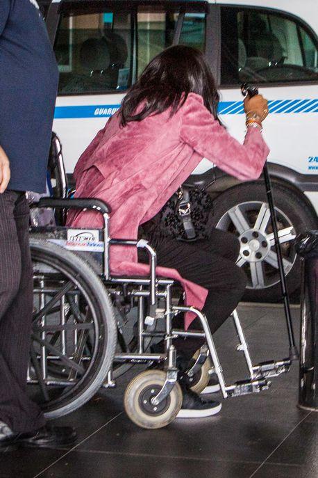 Naomi Campbell Wheelchair