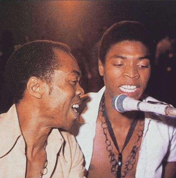 Fela Kuti and Femi Kuti in 1983