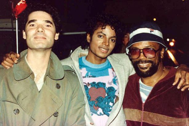 Beat It video producer Antony Payne Michael and Quincy Jones on the set in 1983