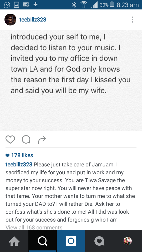 Tee Billz rants7