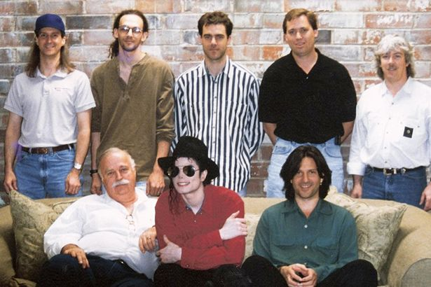 The History team in a Los Angeles studio in 1995