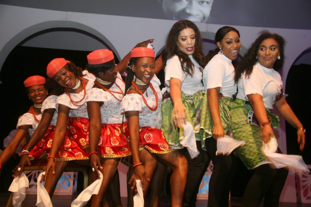 Actresses doing the Fertility Dance in honour of Late Oronto Douglas