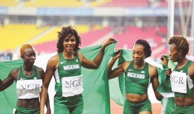 Okagbare and female team