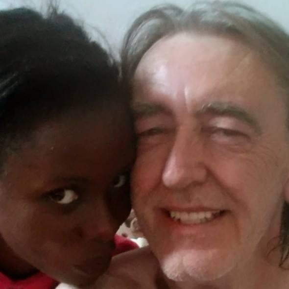 Young black girl dating older white man