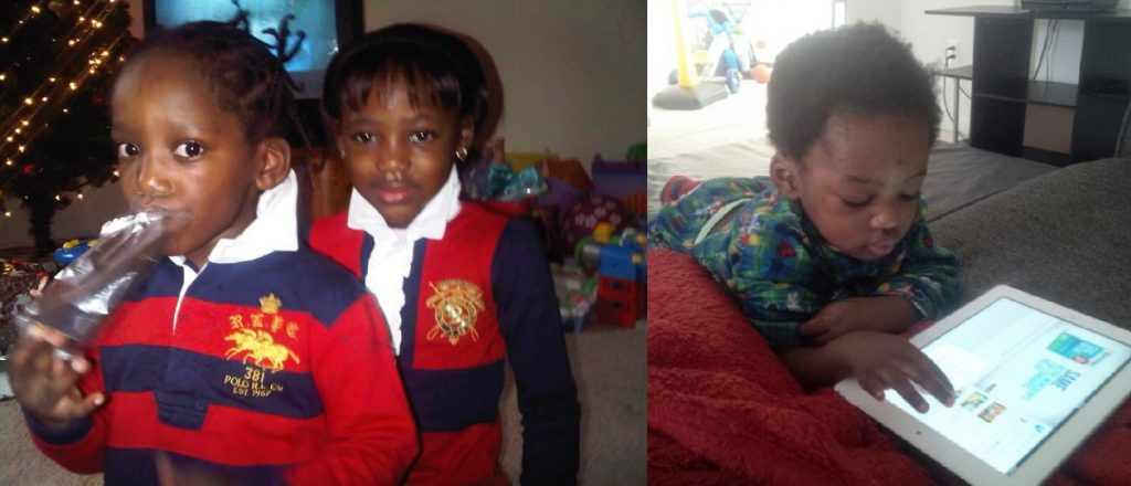 2face Idibia's Children: Rose, Justin, innocent.