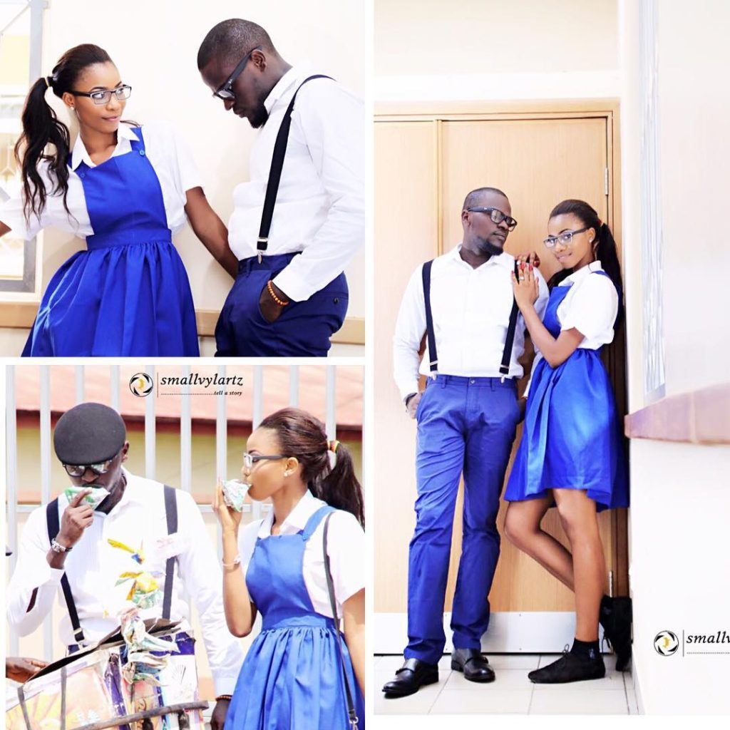High School Sweetheart Wedding: High School Love! Couple Take Pre-Wedding Photos To A