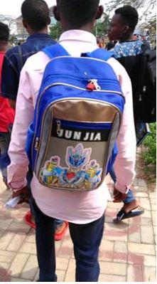 padlock schoolbag
