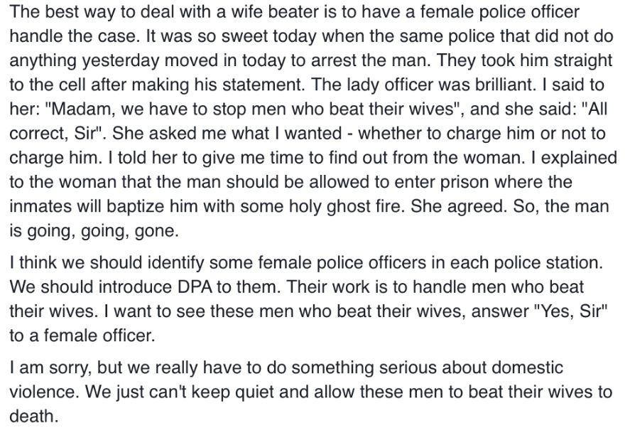 Domestic Violence victim in PH2