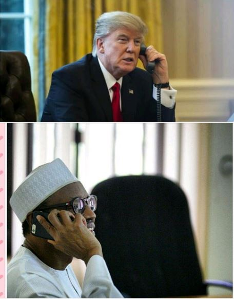buhari trump phone call