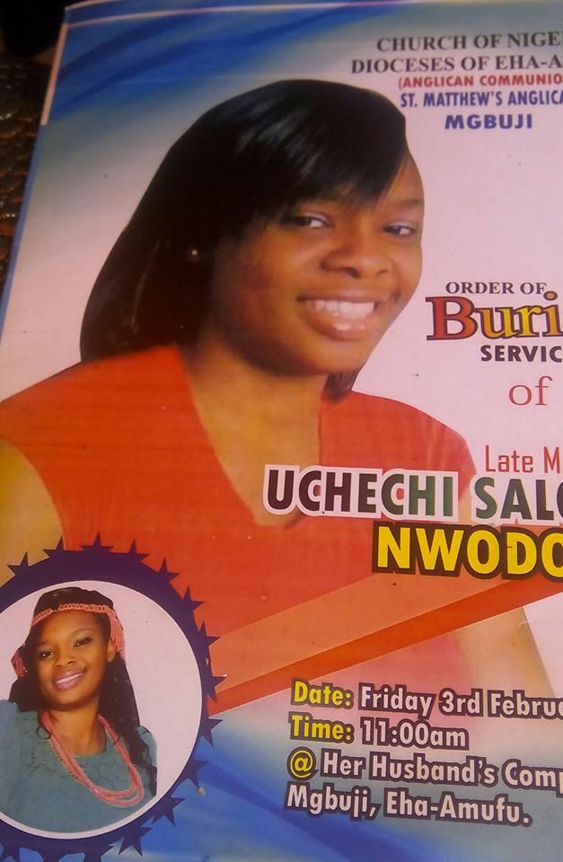 obituary of uchechi
