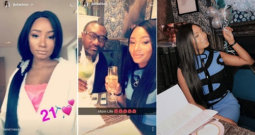 See photos from billionaire daughter, Temi Otedola's 21st