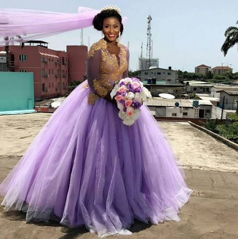 scarlet shotade purple wedding dress