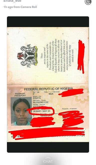 ese eriata certificate birth passport shares data bbn rumours age dismiss indeed nairaland prove celebrities she nigeria yabaleftonline rumors bbnaija