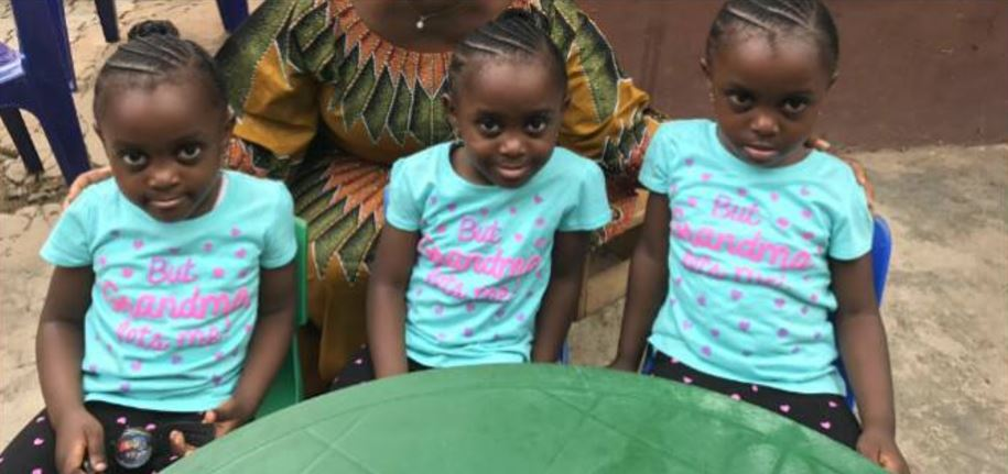 Nigerian Man Gets Identical Triplets