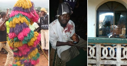 Masquerades invade mosque