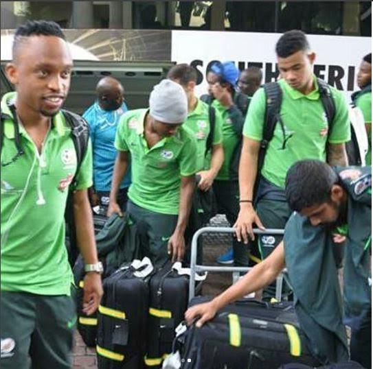 SA's Bafana Bafana Arrive Uyo