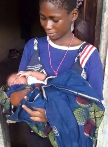 nigerian girl gives birth