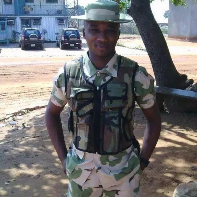 young nigerian soldier dies