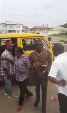 female police officer drags disgrace man