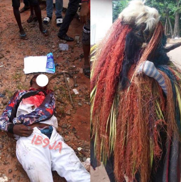 Masquerader chases 14-year-old student