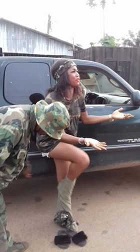Soldiers reportedly strip Nigerian Lady