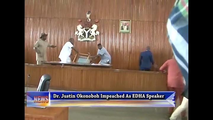 edo state lawmakers wrestles fiercely