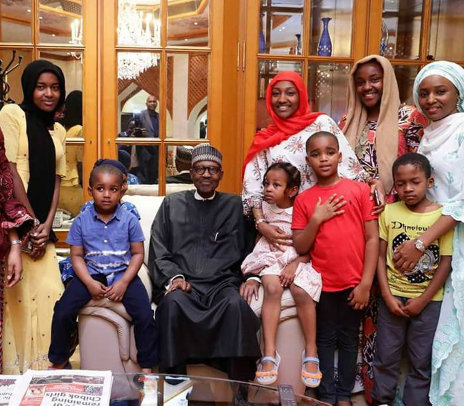 President Buhari arrives Aso Rock