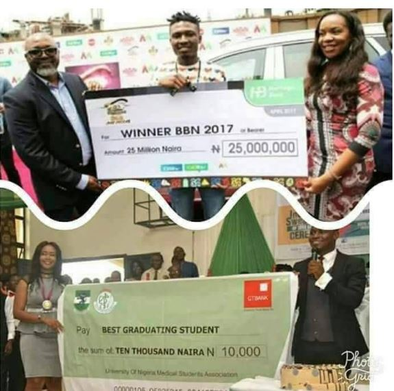 seyi law reacts n10k awarded unn's best graduating student