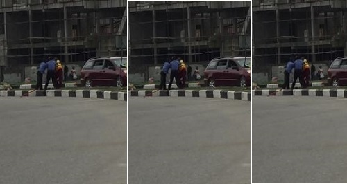 police officer fight lastma officials