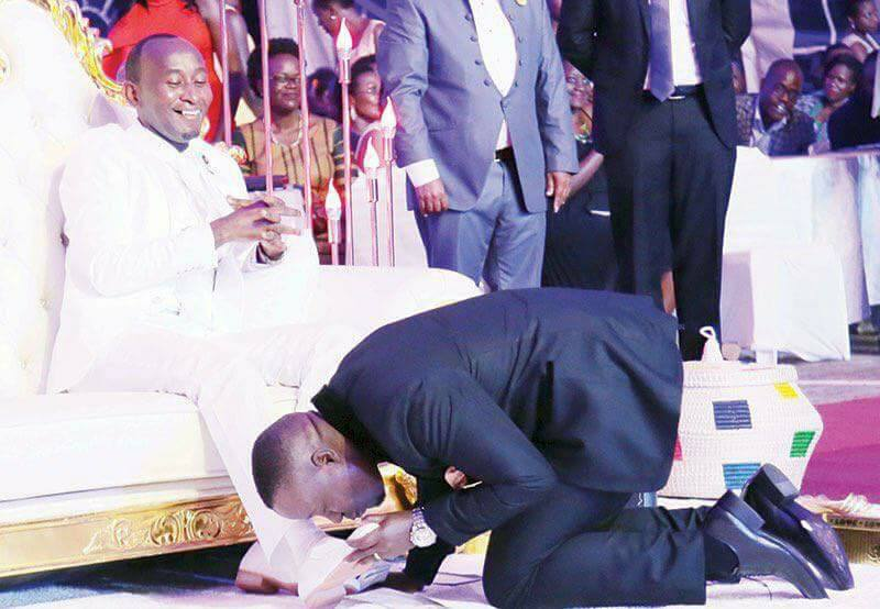 Church Members Kissing