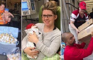 woman donates breastmilk